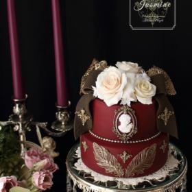 ヴィクトリアン調のラグジュアリーなクレイケーキ Clay Art Jasmine