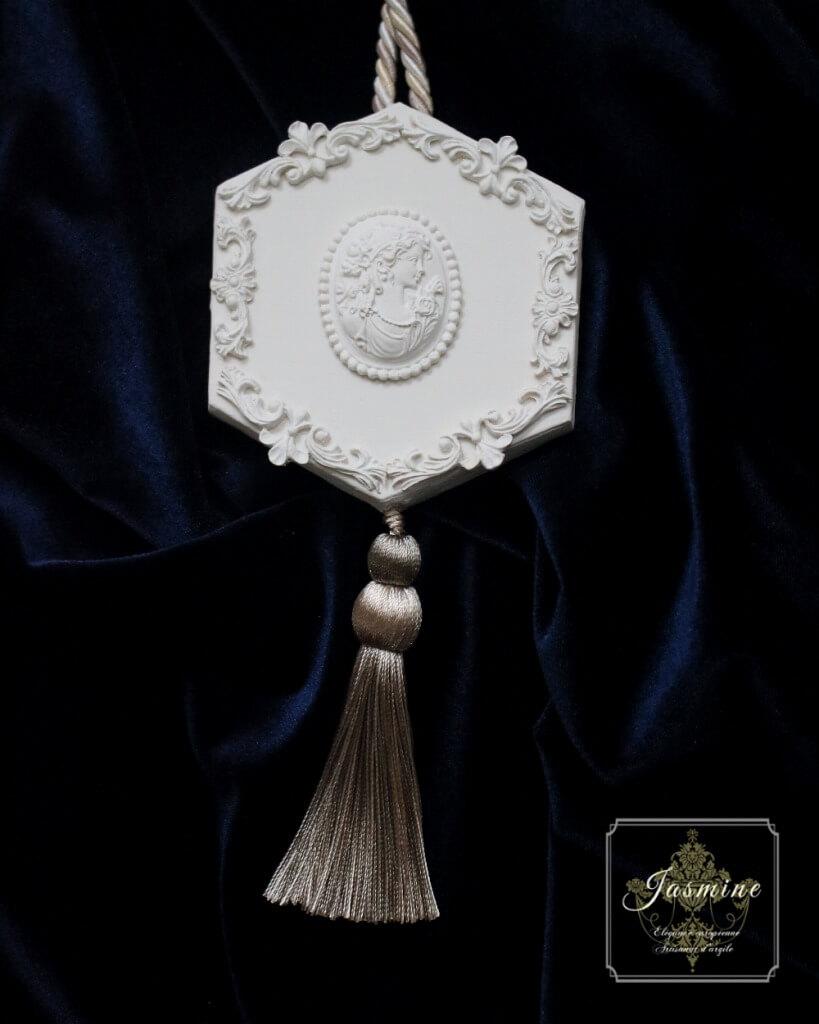 Clay Art Jasmine 購入可能作品_オーナメント ホワイトシルバー