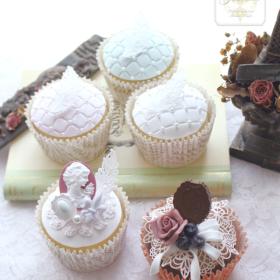 ノーブルカメオカップケーキ Clay Art Jasmine
