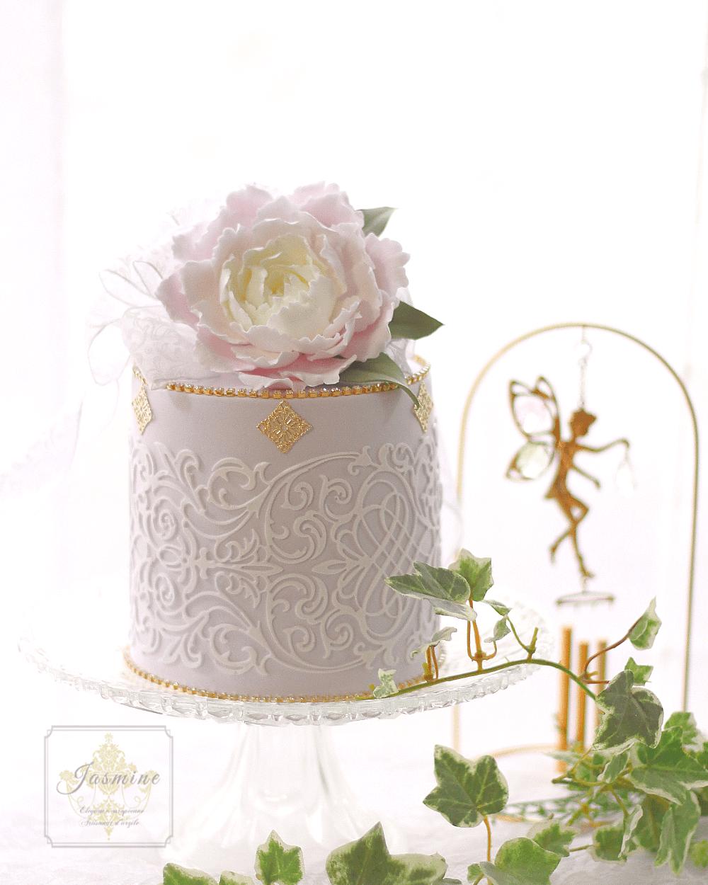 芍薬のクレイケーキ Clay Art Jasmine